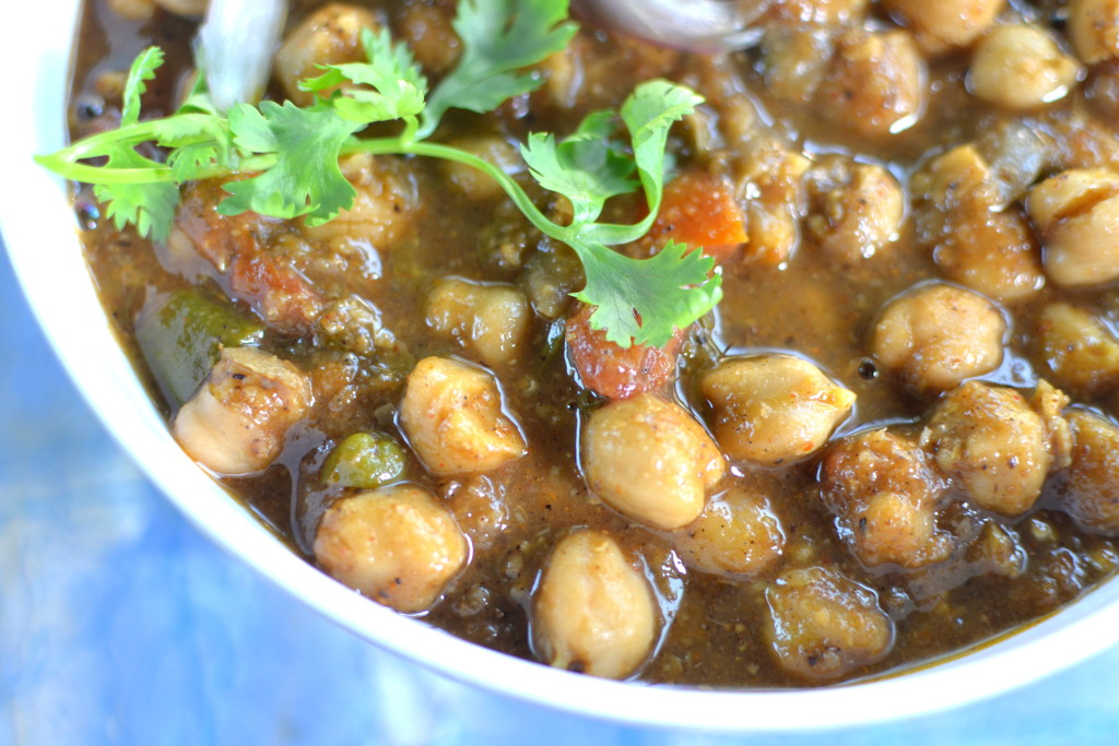 chana masala indian vegetarian dish