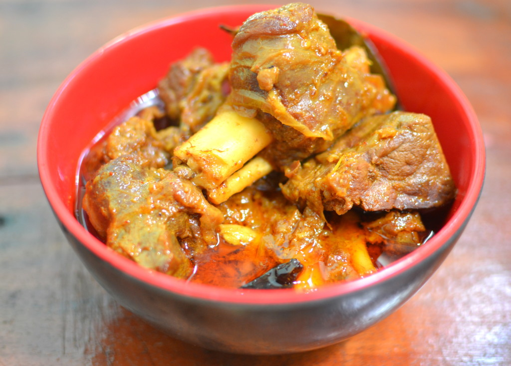 mutton cooked with roasted spices
