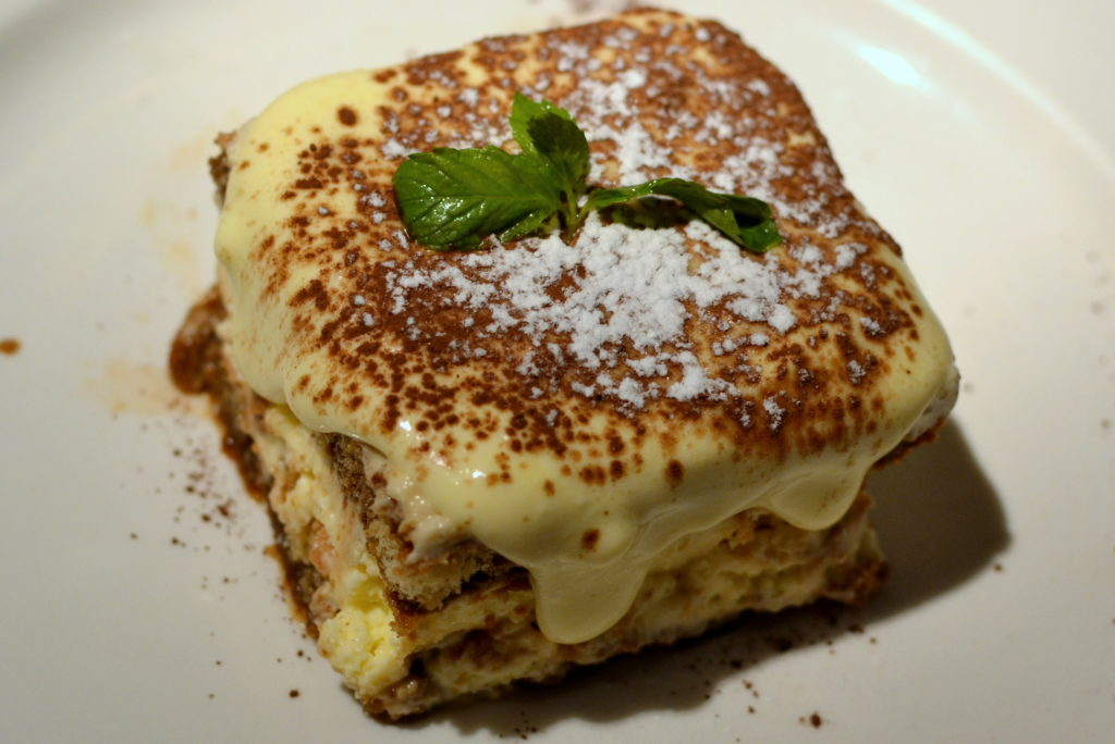 tiramisu at Serafina Sunday Brunch
