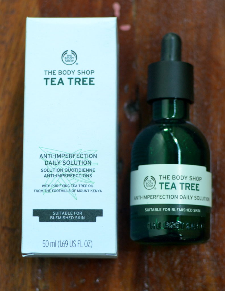 the body shop tea tree anti blemish solution